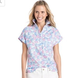 NWT Vineyard Vines Pineapple button up top 2